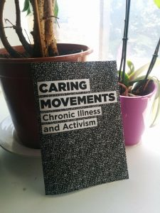 caring movements zine, plantpots in background